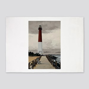 Barnegat Light Lighthouse NJ 5'x7'Area Rug